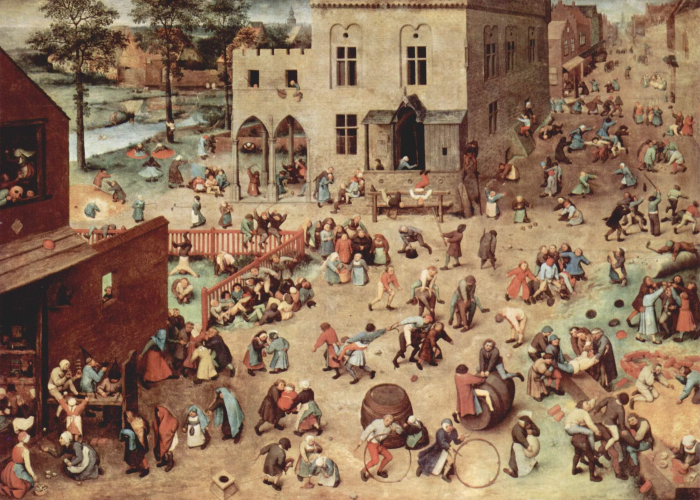 Серия так называемых лубочных картин, Детские забавы, Брейгель Питер
