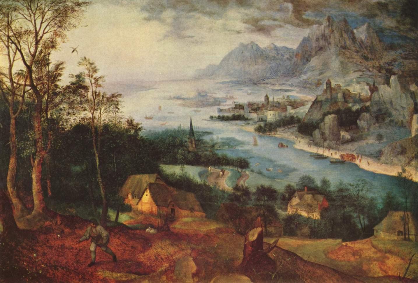 Речной пейзаж с сеятелем, Брейгель Питер