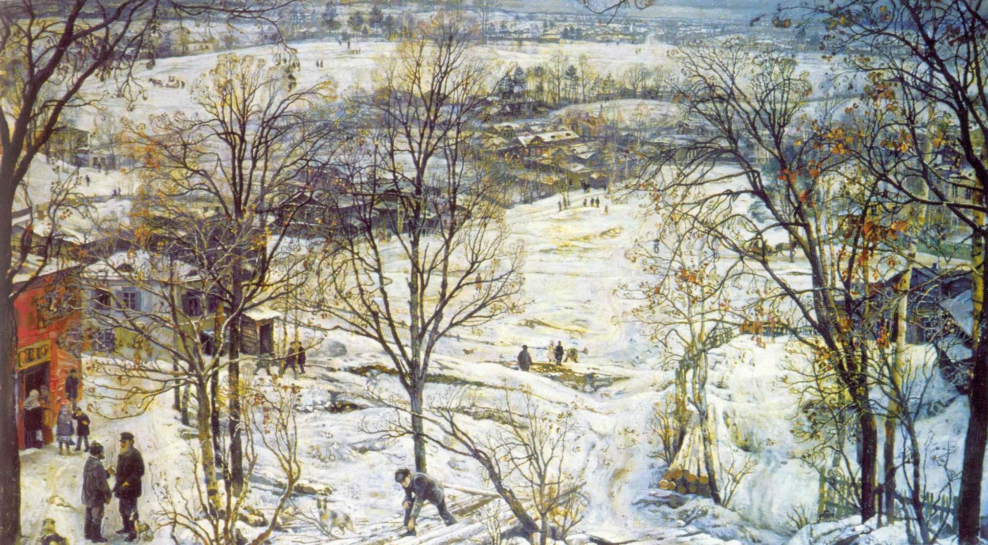 Зима, Бродский Исаак Израилевич