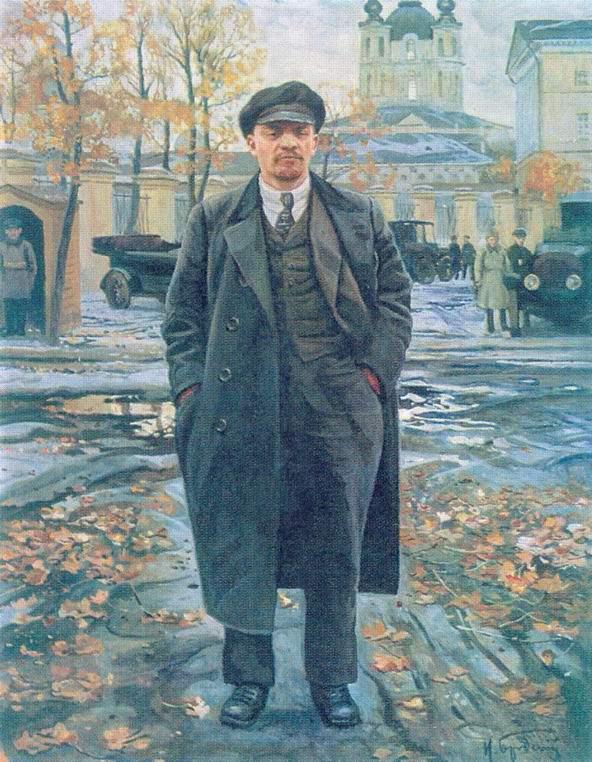 В. И. Ленин на фоне Смольного, Бродский Исаак Израилевич