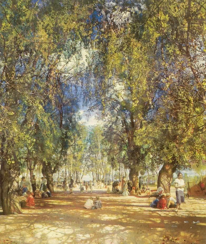 Аллея парка, Бродский Исаак Израилевич