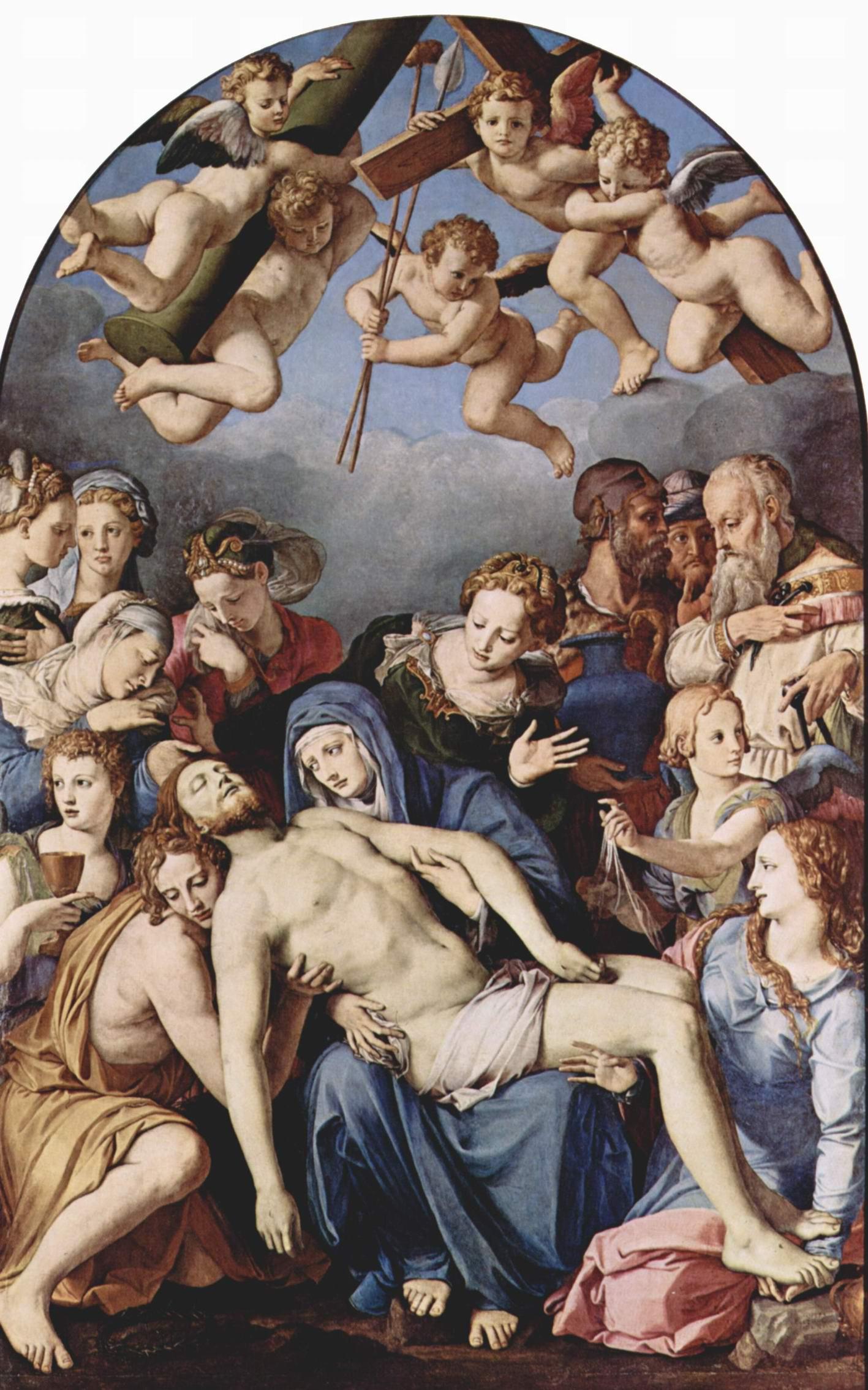 Алтарь Капеллы Элеоноры Толедской, Снятие с креста, Бронзино Аньоло