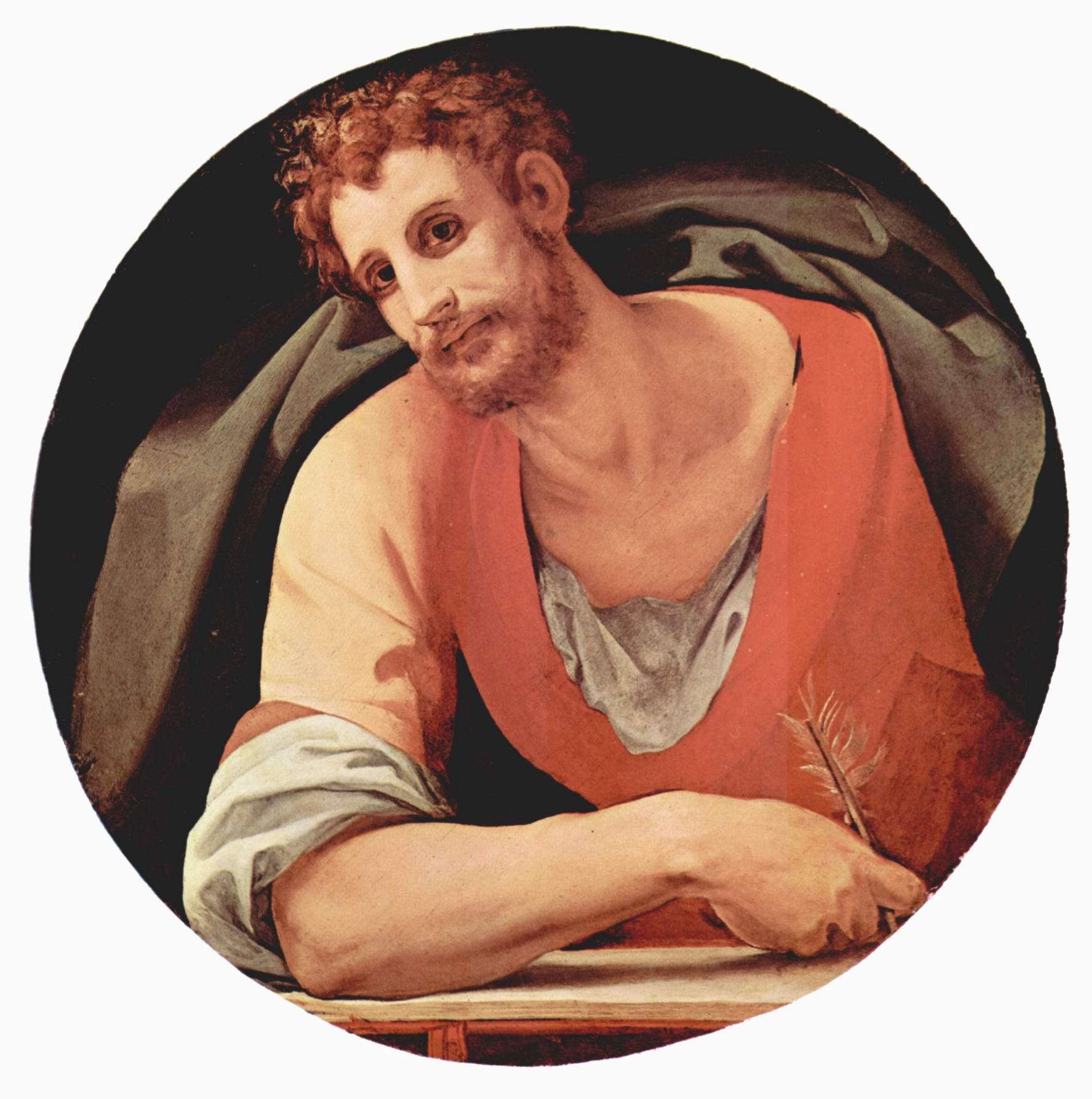 Изображения евангелистов Капеллы Каппони в Санта Фелиция во Флоренции, св. Марк, Бронзино Аньоло