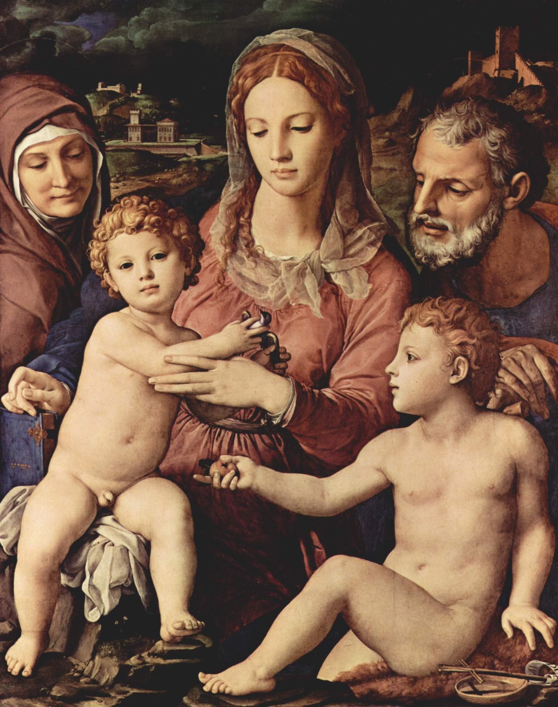 Святое семейство со св. Анной и Иоанном Крестителем, Бронзино Аньоло