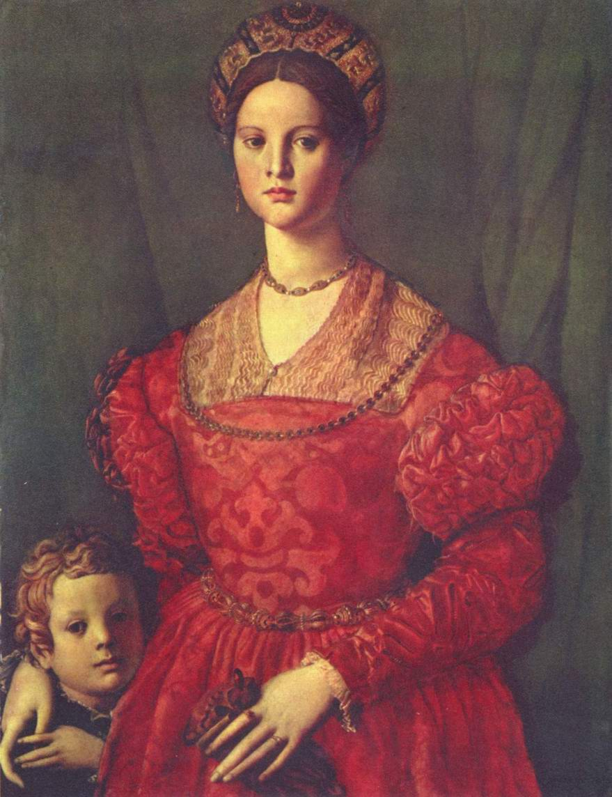 Портрет молодой женщины с сыном, Бронзино Аньоло