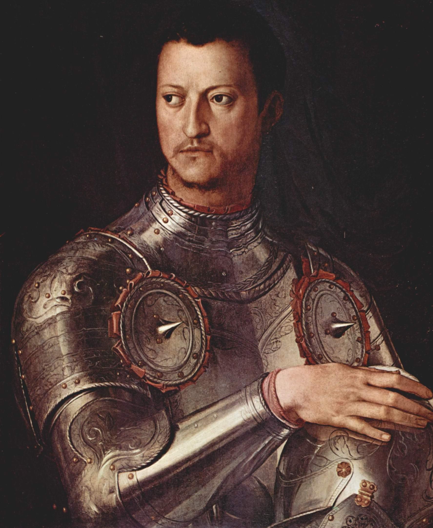 Портрет Козимо Первого Медичи в латах, Бронзино Аньоло
