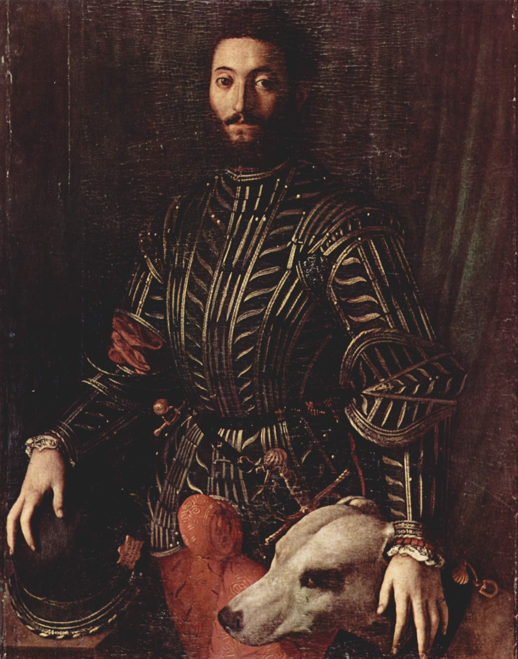 Портрет Гвидобальдо II делла Ровере, герцога Урбинского, Бронзино Аньоло