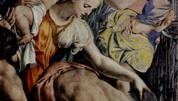 Фрески капеллы Элеоноры Толедской в Палаццо Веккио во Флоренции, левая стена Моисей иссекает воду из скалы