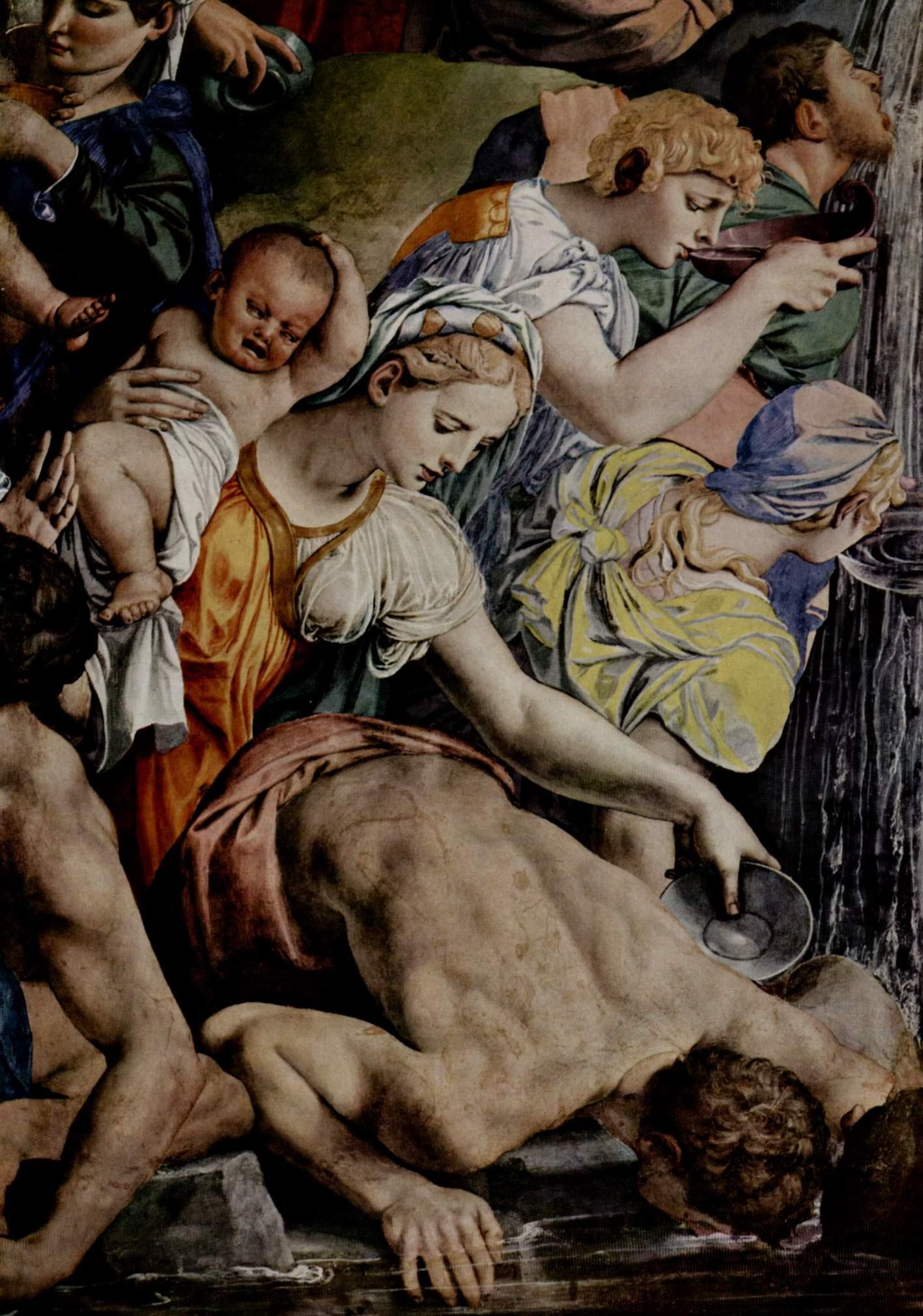 Фрески капеллы Элеоноры Толедской в Палаццо Веккио во Флоренции, левая стена  Моисей иссекает воду из скалы, Бронзино Аньоло