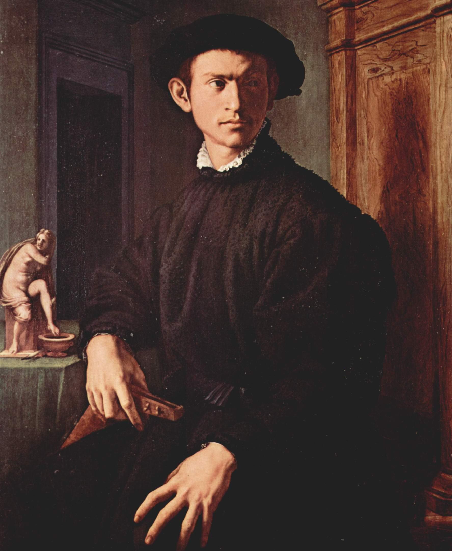 Портрет молодого человека с лютней, Бронзино Аньоло