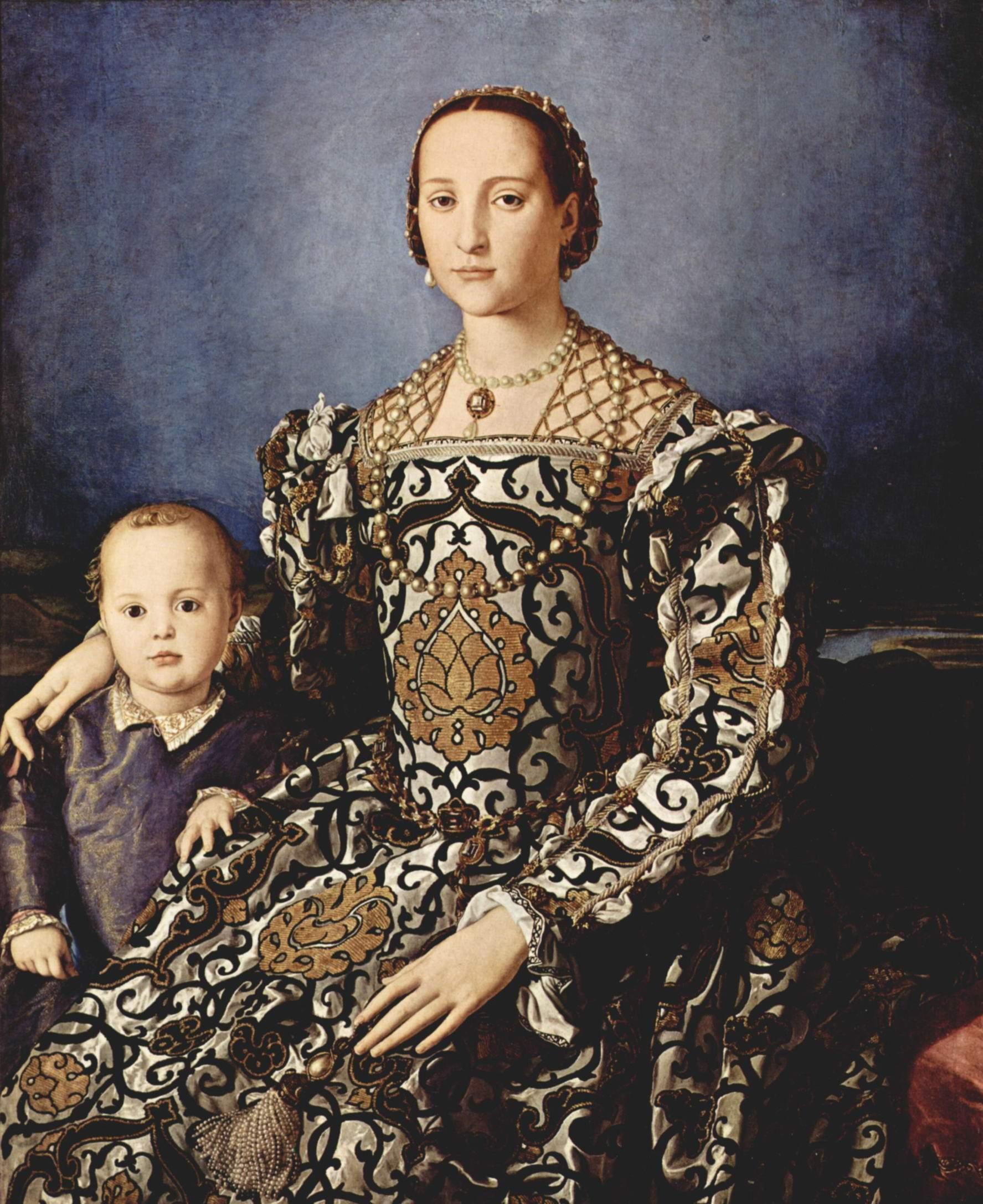 Портрет Элеоноры Толедской с сыном Джованни, Бронзино Аньоло