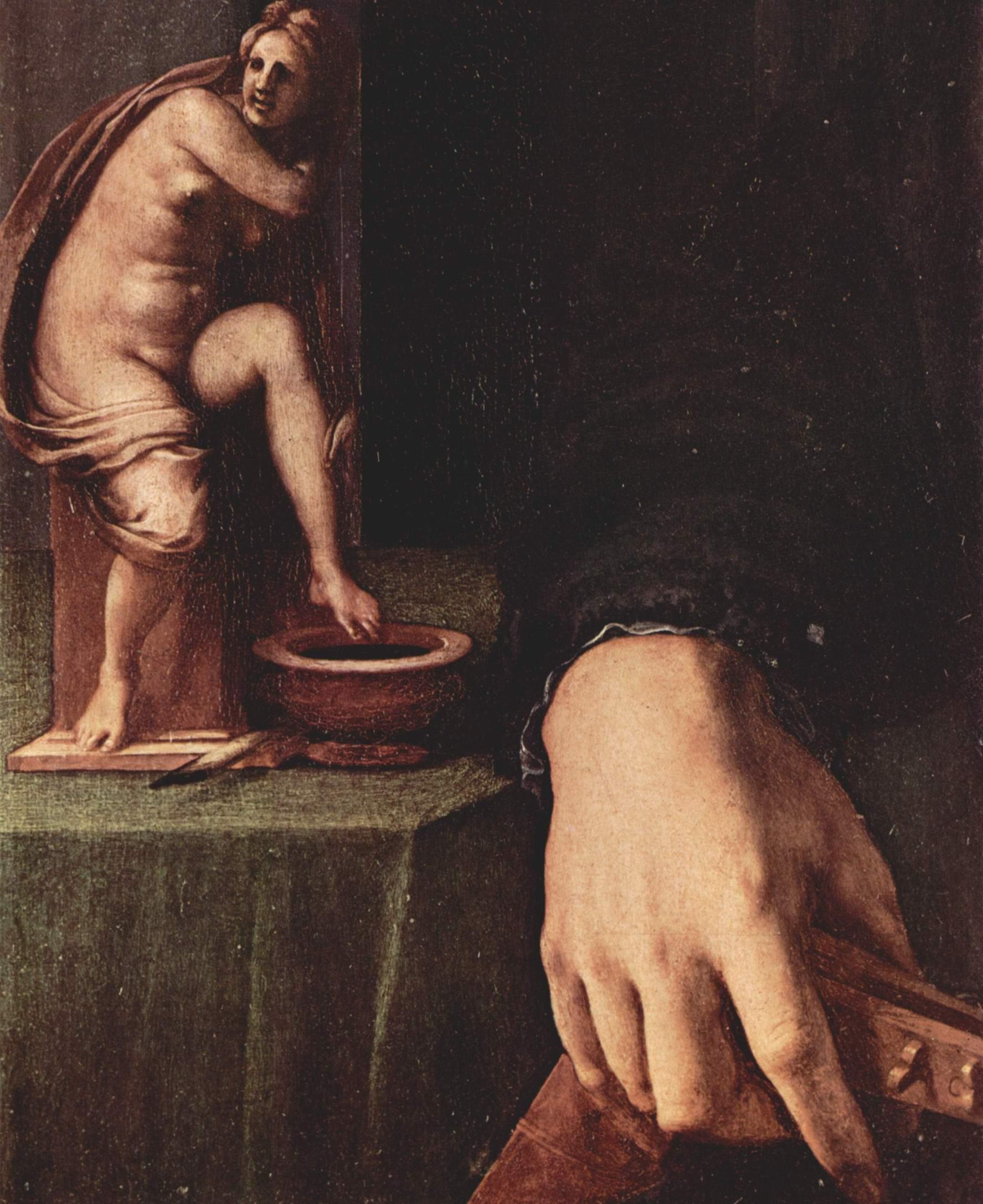 Портрет молодого человека с лютней. Деталь, Бронзино Аньоло
