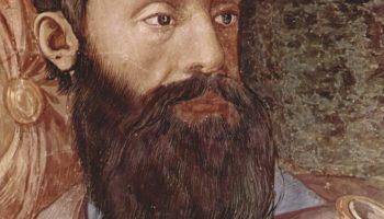 Фрески капеллы Элеоноры Толедской в Палаццо Веккио во Флоренции, правая боковая стена  переход израильтян через Красное море. Деталь