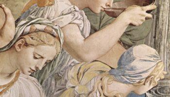 Фрески капеллы Элеоноры Толедской в Палаццо Веккио во Флоренции, левая стена  Моисей иссекает воду из скалы. Деталь