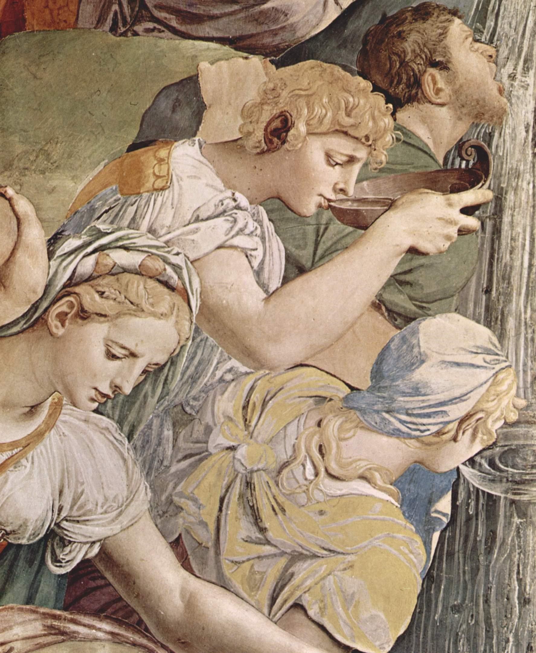 Фрески капеллы Элеоноры Толедской в Палаццо Веккио во Флоренции, левая стена  Моисей иссекает воду из скалы. Деталь, Бронзино Аньоло