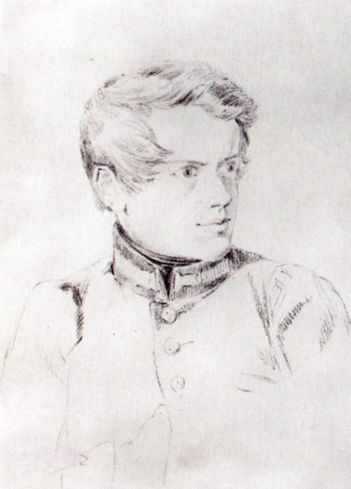 Автопортрет Брюлова в мундире академиста, Брюллов Карл Павлович