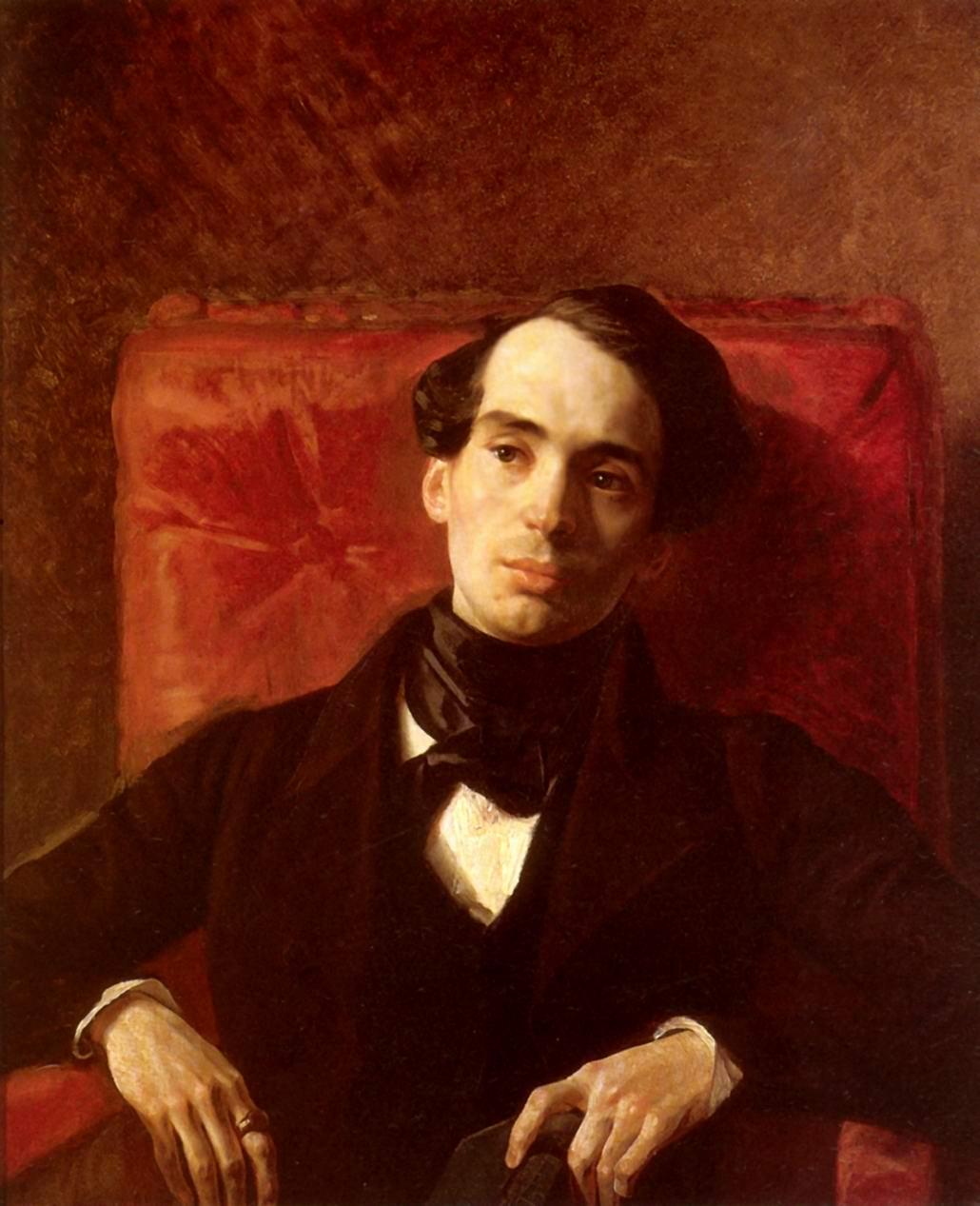 Портрет писателя Александра Струговщикова, Брюллов Карл Павлович