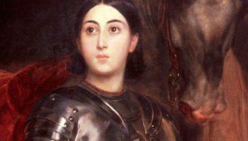Портрет Джульетты Титтони в виде Жанны д'Арк