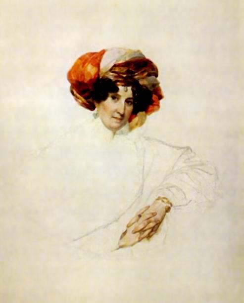Портрет неизвестной в тюрбане (графиня Мария Разумовская), Брюллов Карл Павлович