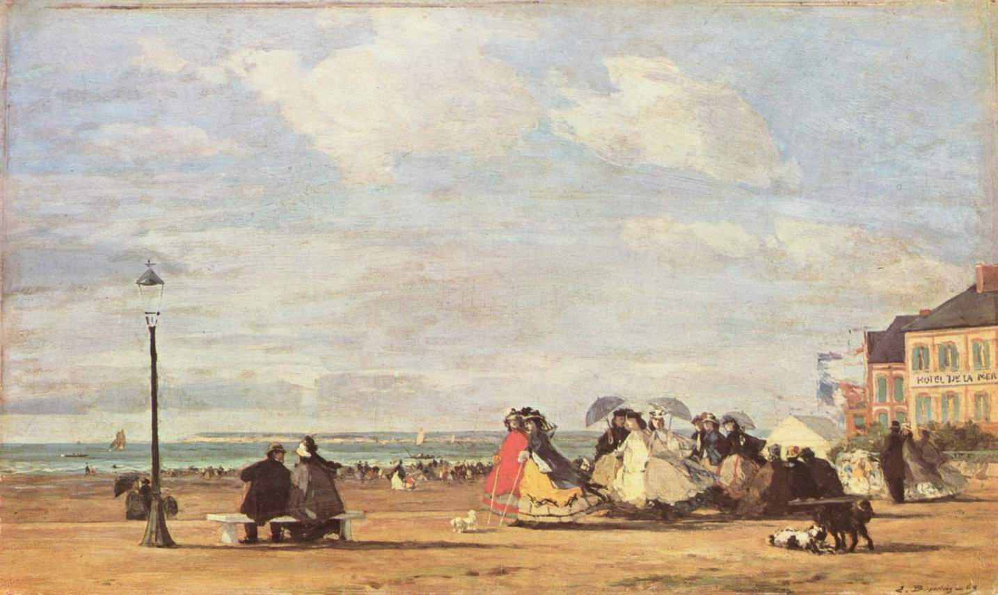 Императрица Евгения на морском побережье в Трувиле, Буден Эжен