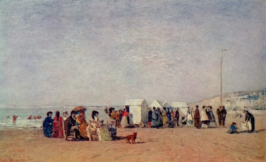 Пляж в Трувиле, Буден Эжен