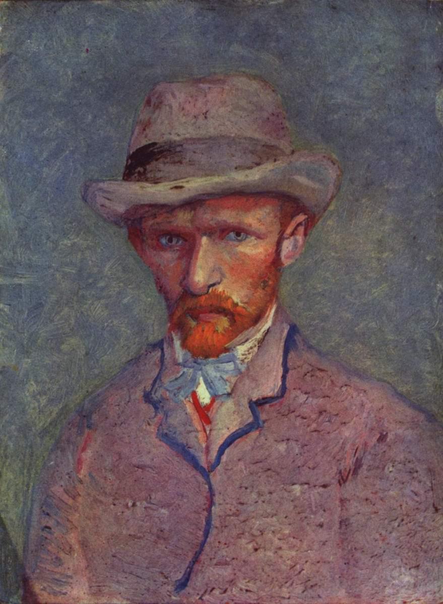 Автопортрет в серой шляпе, Ван Гог Винсент Виллем