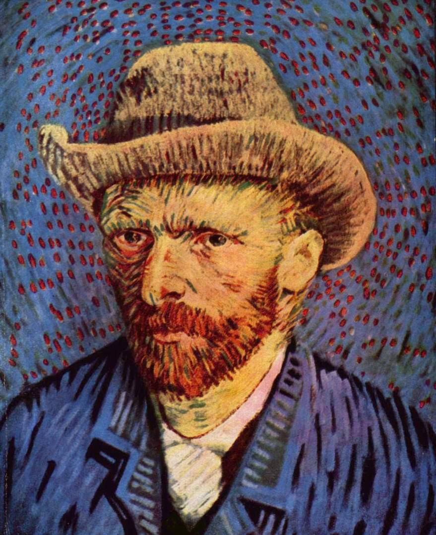 Автопортрет в серой фетровой шляпе, Ван Гог Винсент Виллем