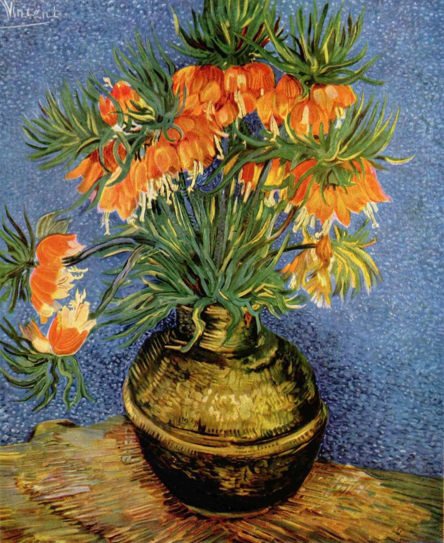 Натюрморт с цветами в бронзовой вазе, Ван Гог Винсент Виллем