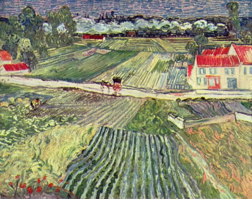 Пейзаж близ Овера в дождливый день, Ван Гог Винсент Виллем