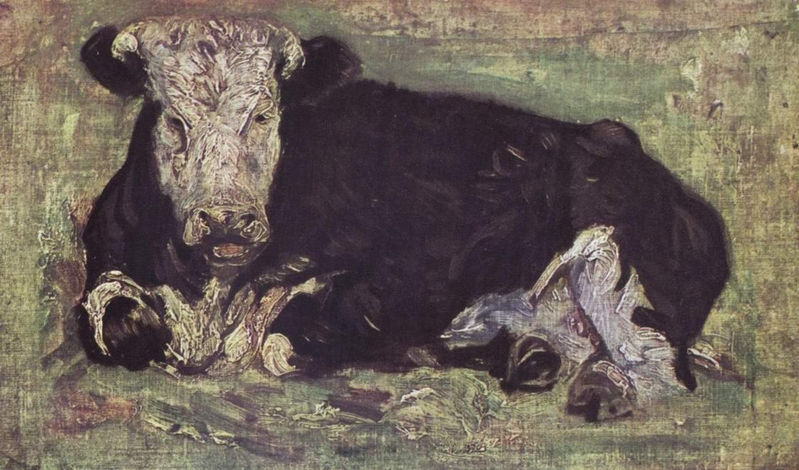 Лежащая корова, Ван Гог Винсент Виллем
