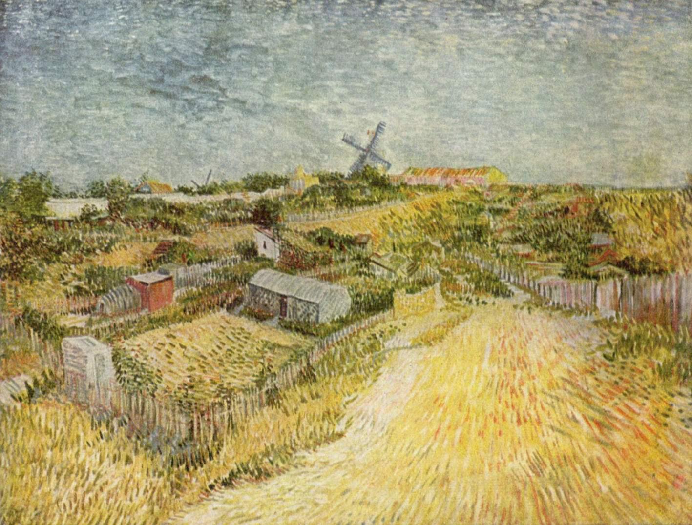 Огороды на Монмартре (Монмартрский холм), Ван Гог Винсент Виллем