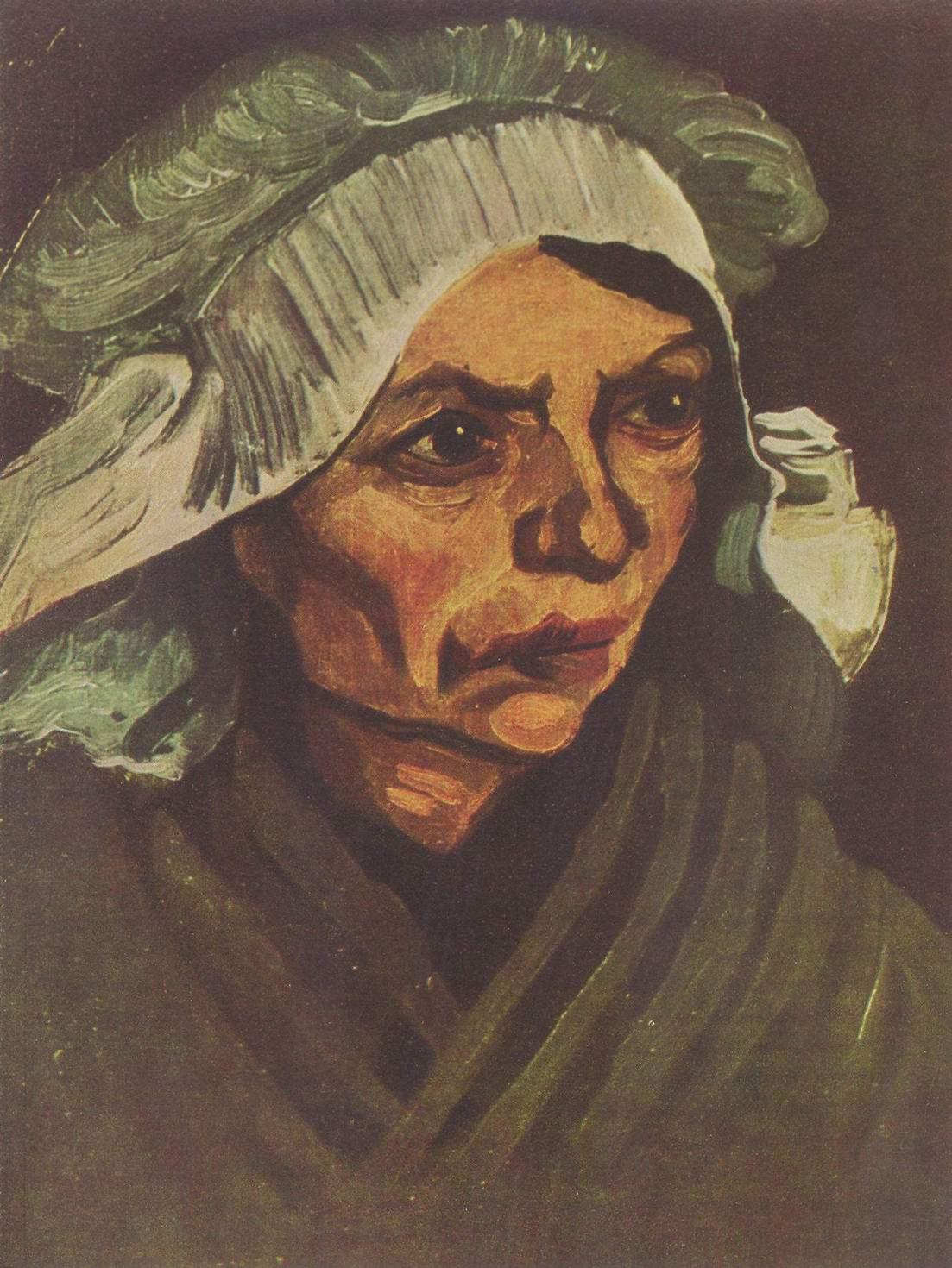 Портрет крестьянки в белом чепце, Ван Гог Винсент Виллем