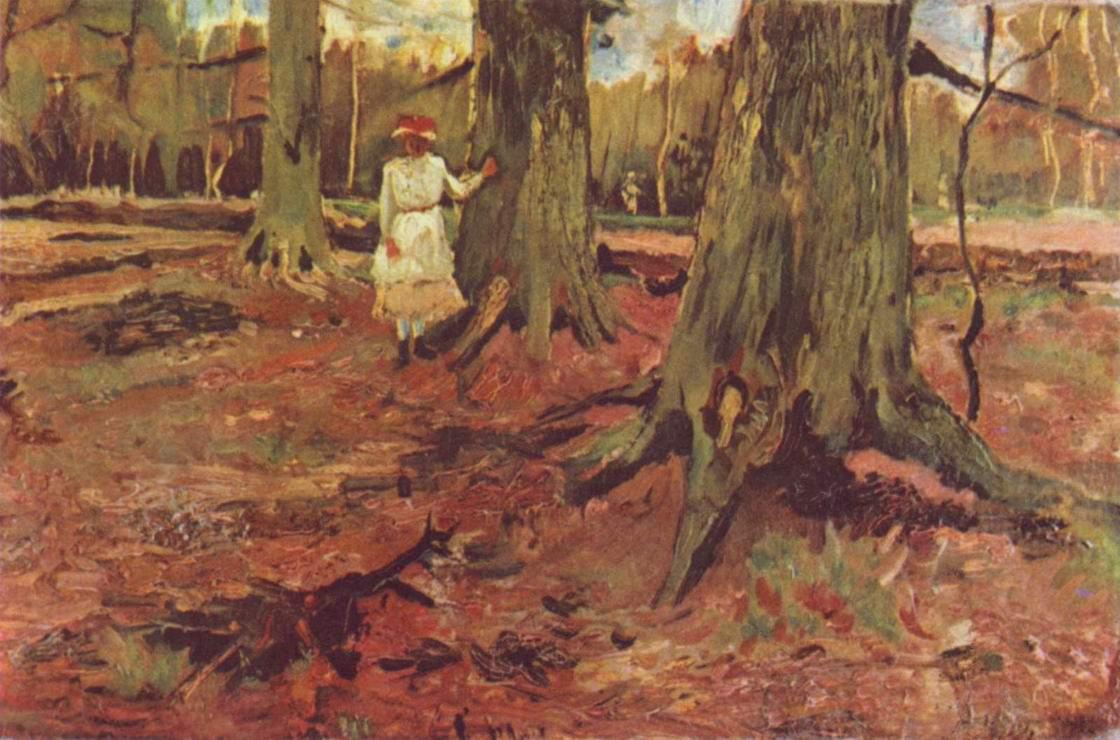 Девушка в белом на лесной опушке, Ван Гог Винсент Виллем