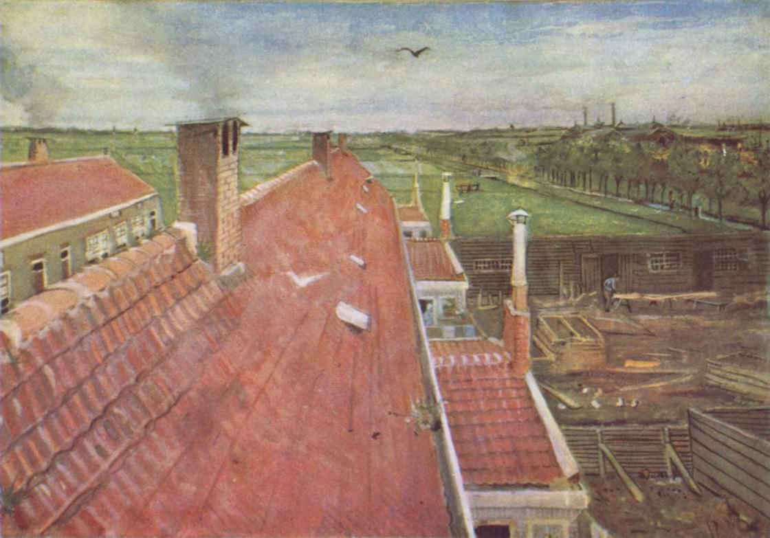 Крыши, вид из ателье Ван Гога, Ван Гог Винсент Виллем