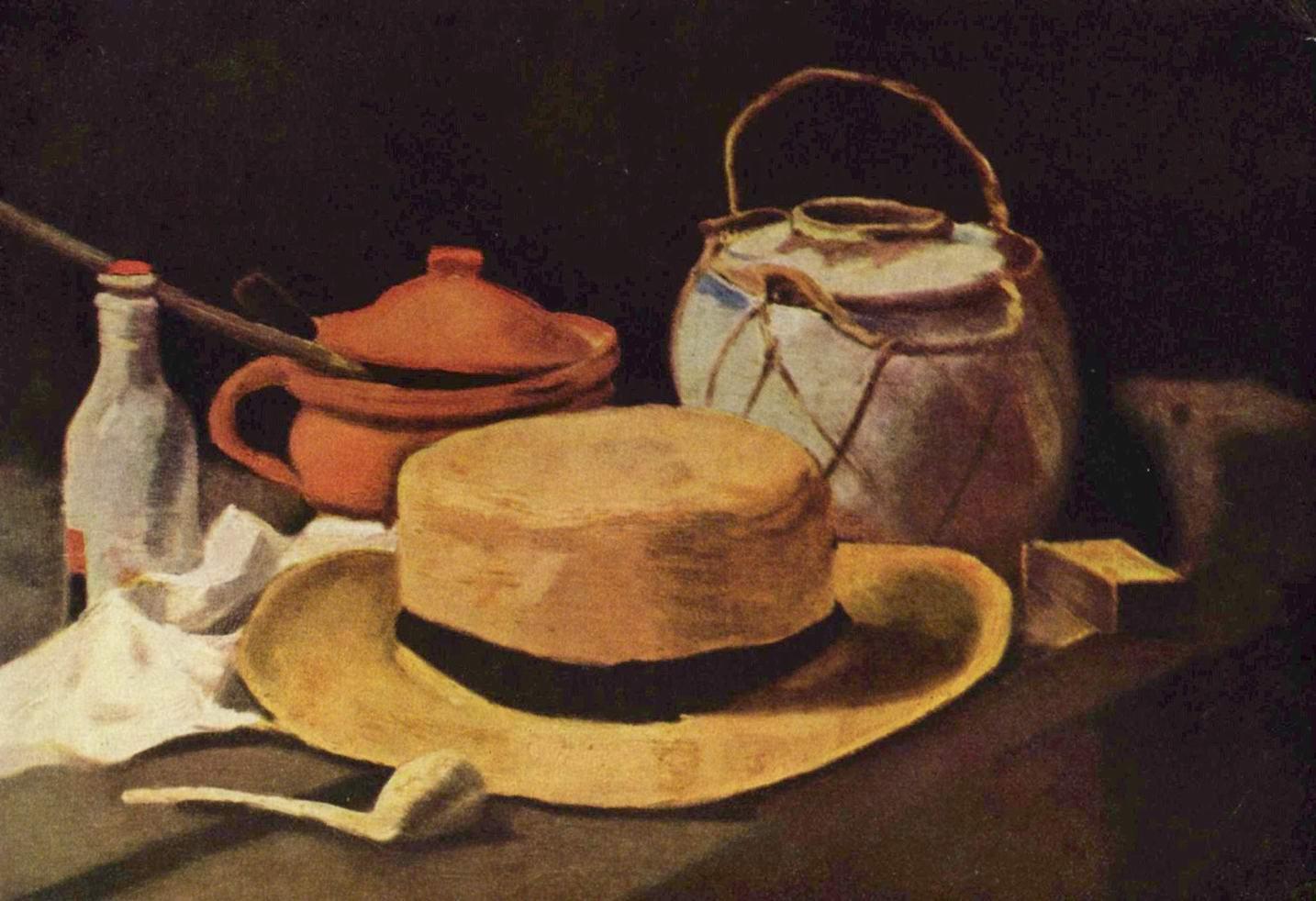 Натюрморт с соломенной шляпой и трубкой, Ван Гог Винсент Виллем