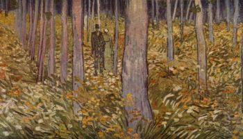 Две фигуры в лесу