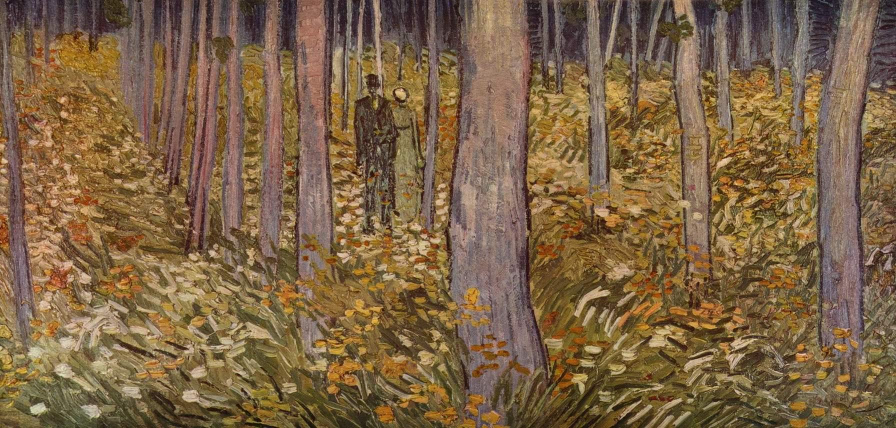 Пара на лесной прогулке, Ван Гог Винсент Виллем