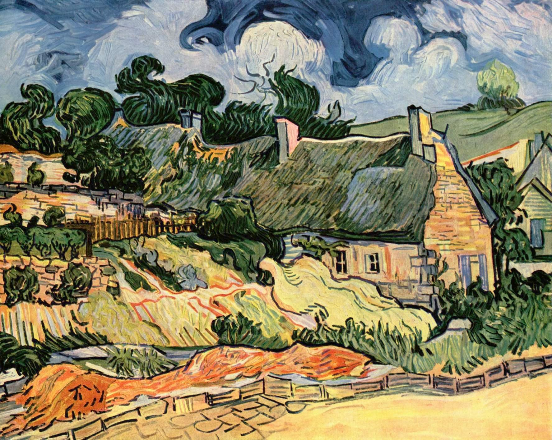 Хижины в Кордевилле (Дома в Овере, или Крытые соломой дома в Кордевилле), Ван Гог Винсент Виллем