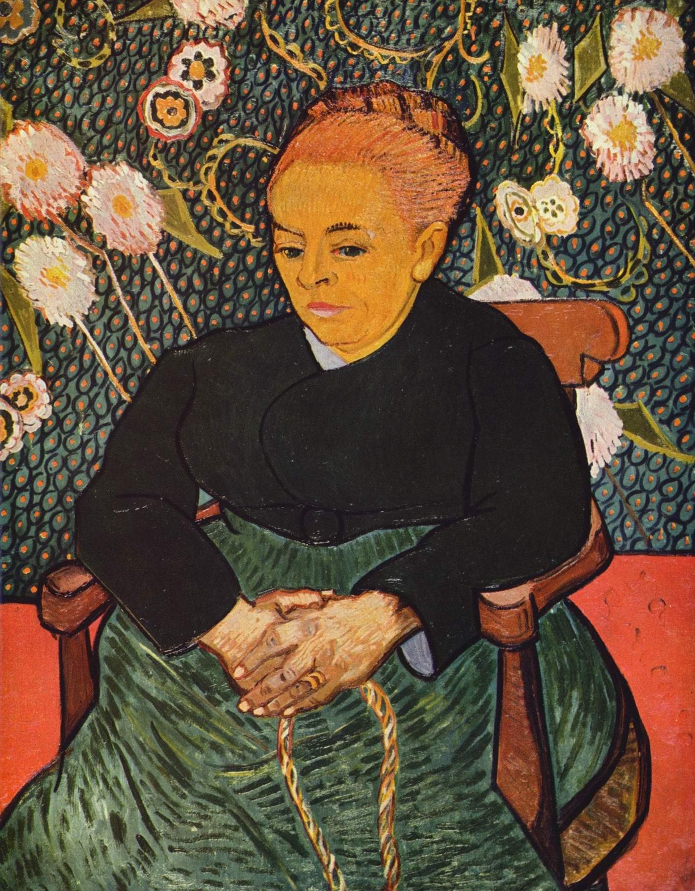 Портрет Августины Рулен (La Berceuse, Няня), Ван Гог Винсент Виллем