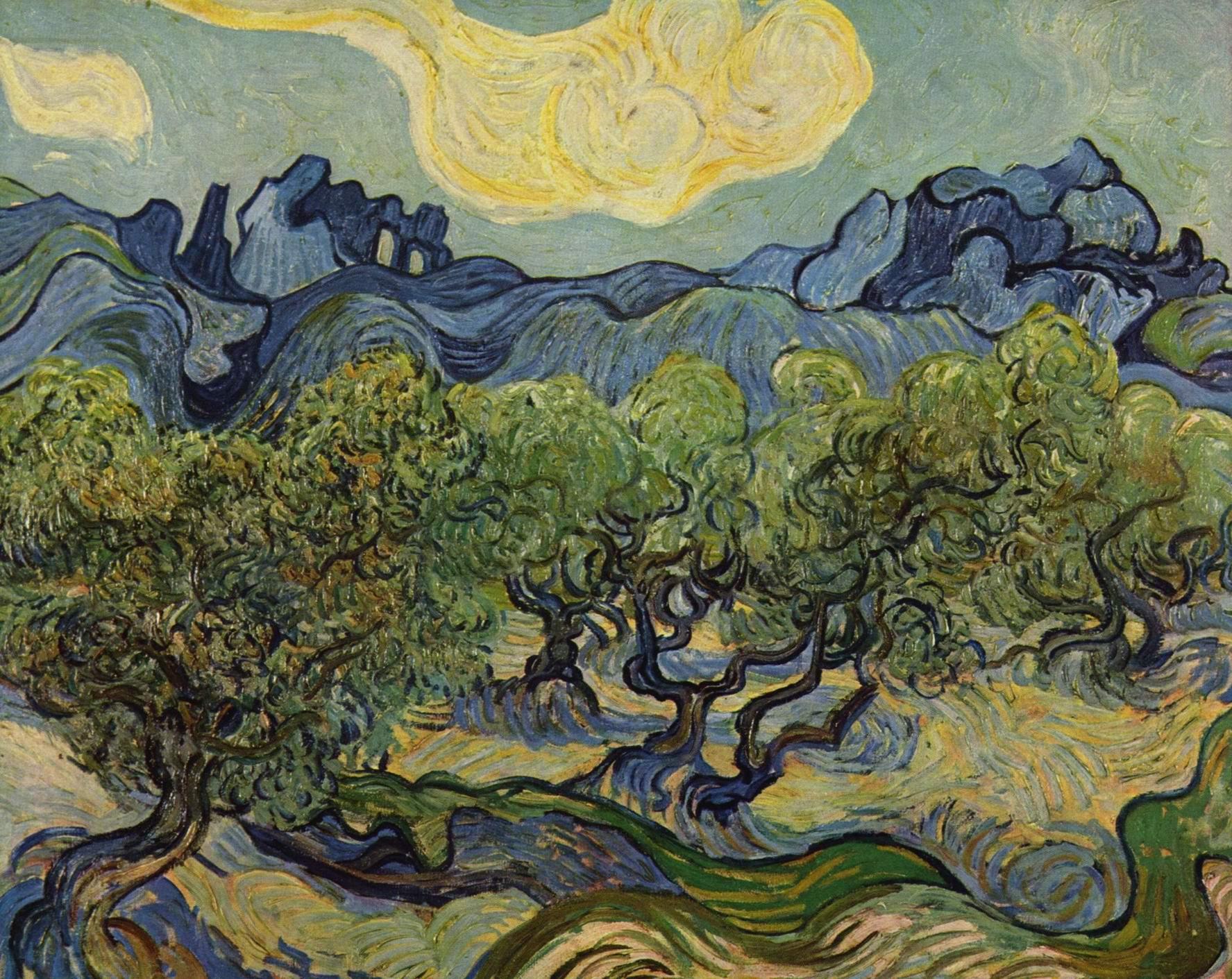 Пейзаж с оливами, Ван Гог Винсент Виллем