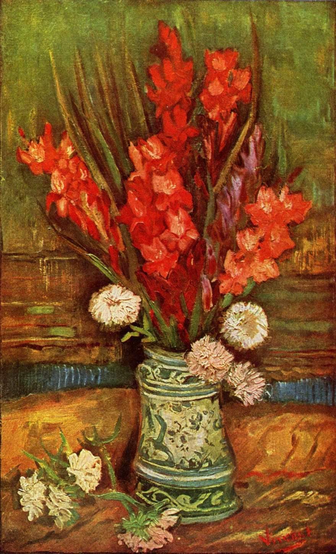 Натюрморт с красными гладиолусами, Ван Гог Винсент Виллем