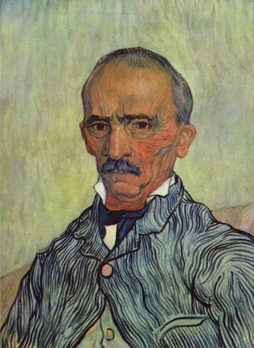 Портрет Трабю, старшего надзирателя лечебницы Сен-Поль, Ван Гог Винсент Виллем
