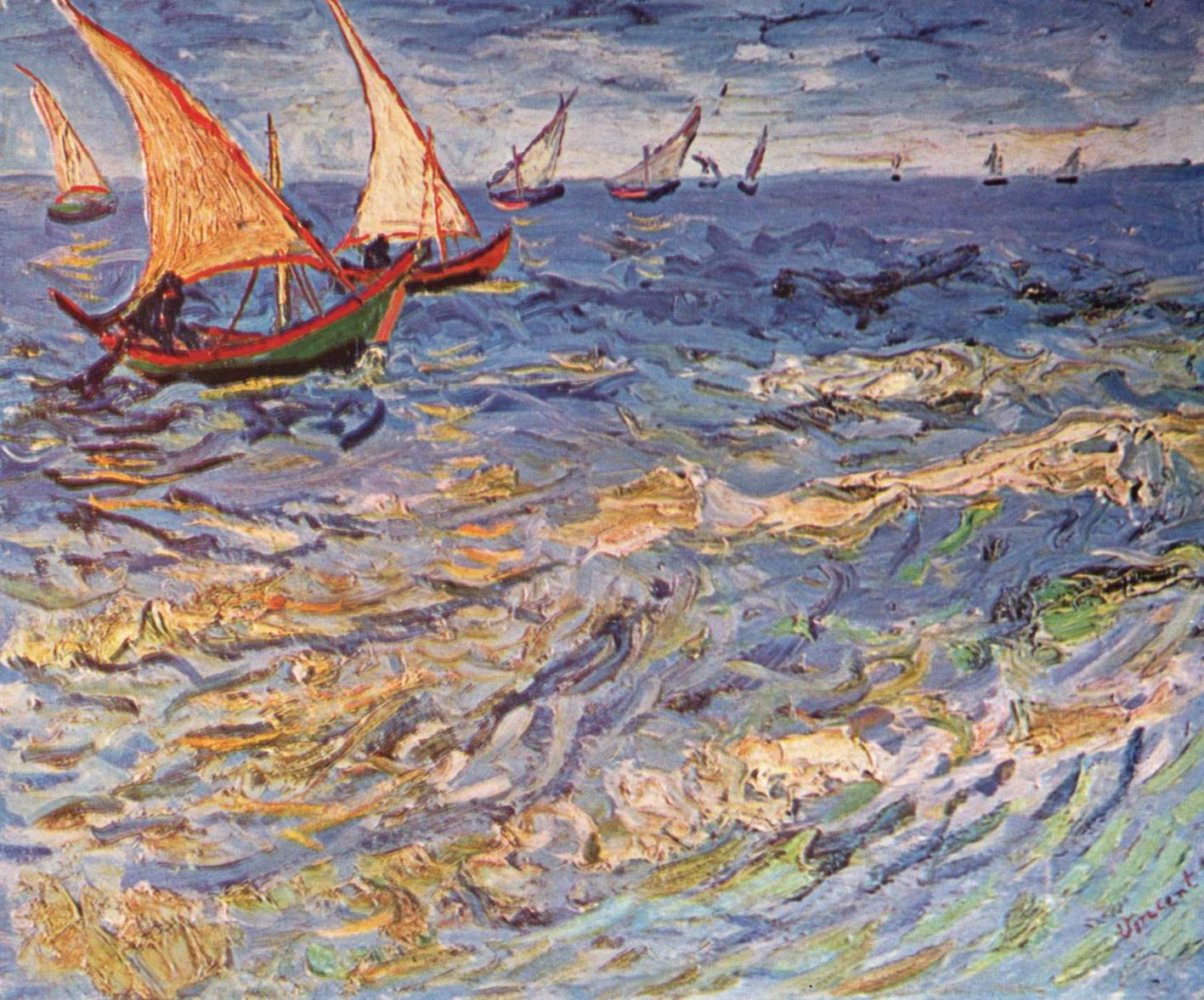 Море в Сент-Марье, Ван Гог Винсент Виллем
