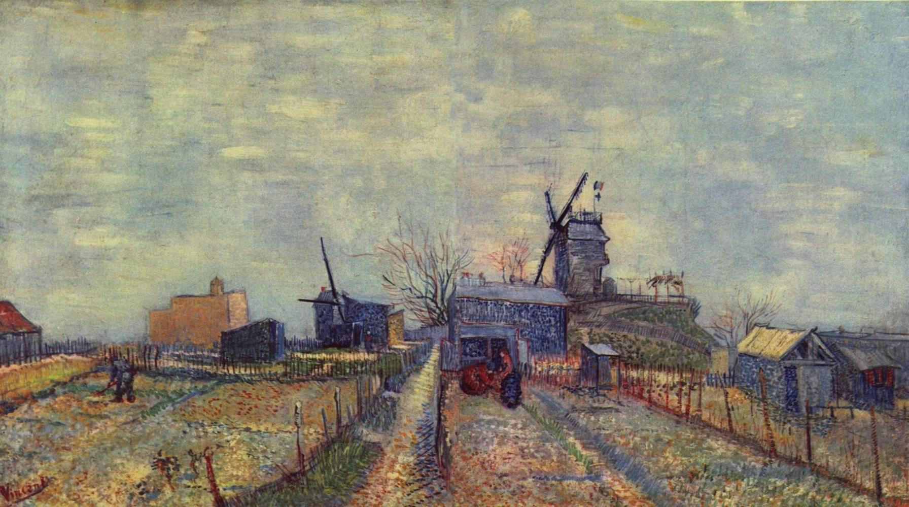Огороды на Монмартре, Ван Гог Винсент Виллем