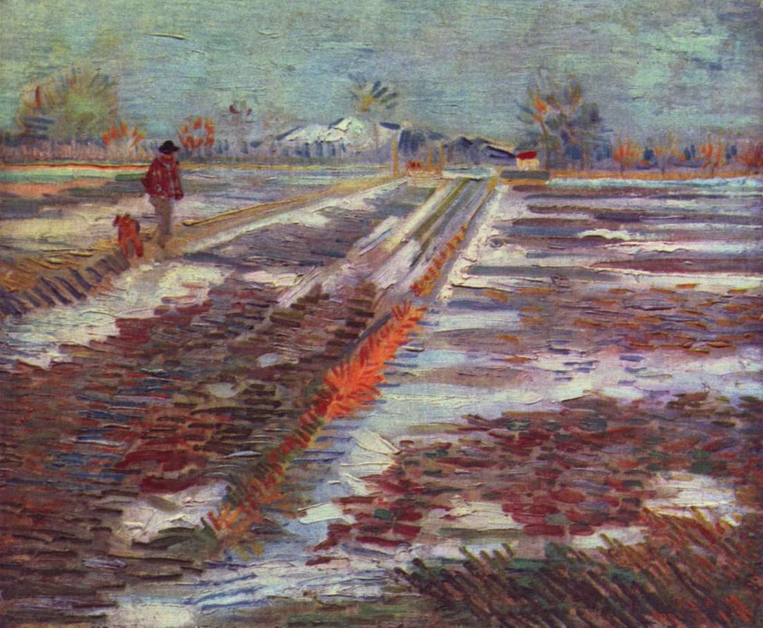 Снег на полях близ Арля, Ван Гог Винсент Виллем
