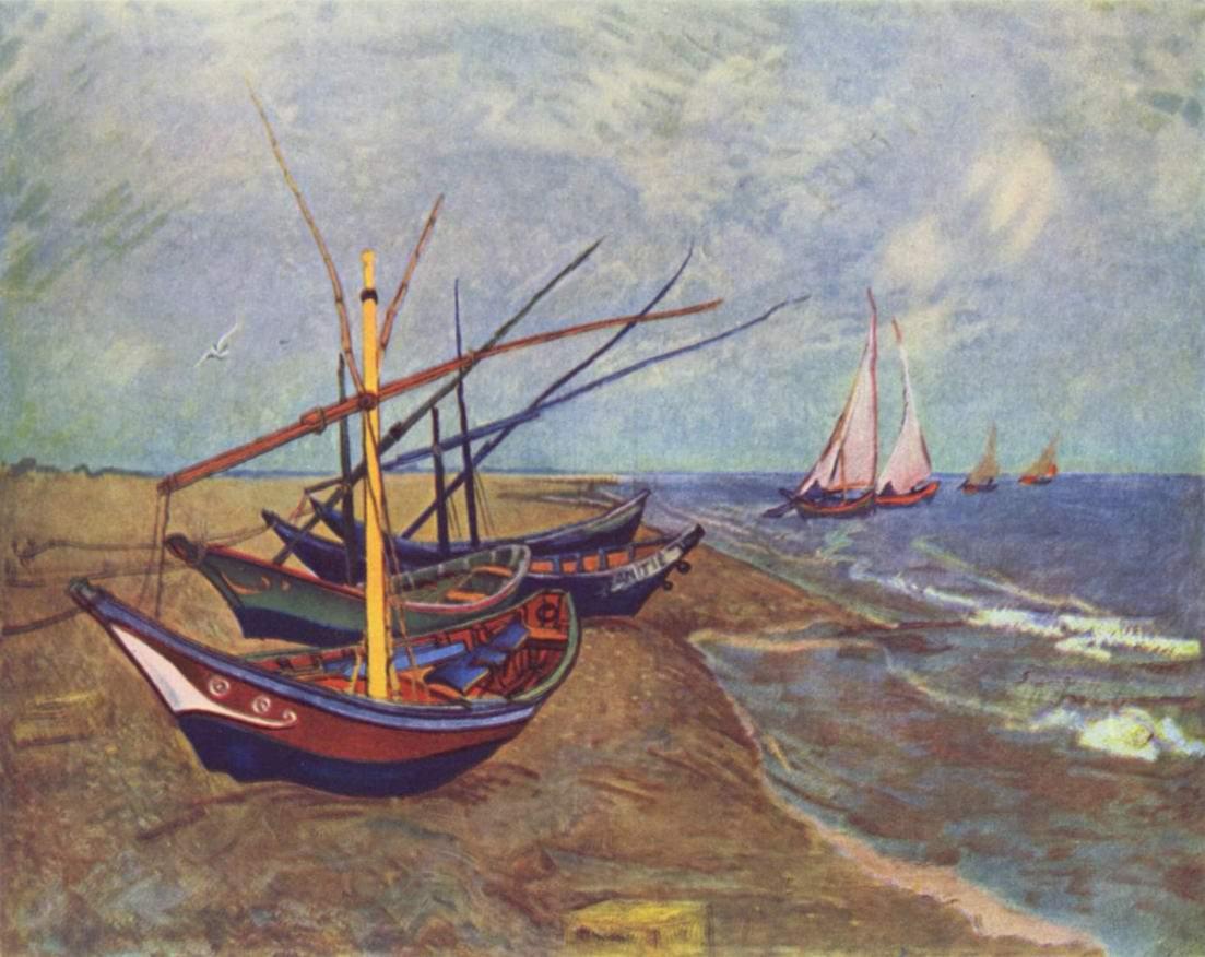 Рыбачьи лодки на берегу в Сен-Марье, Ван Гог Винсент Виллем
