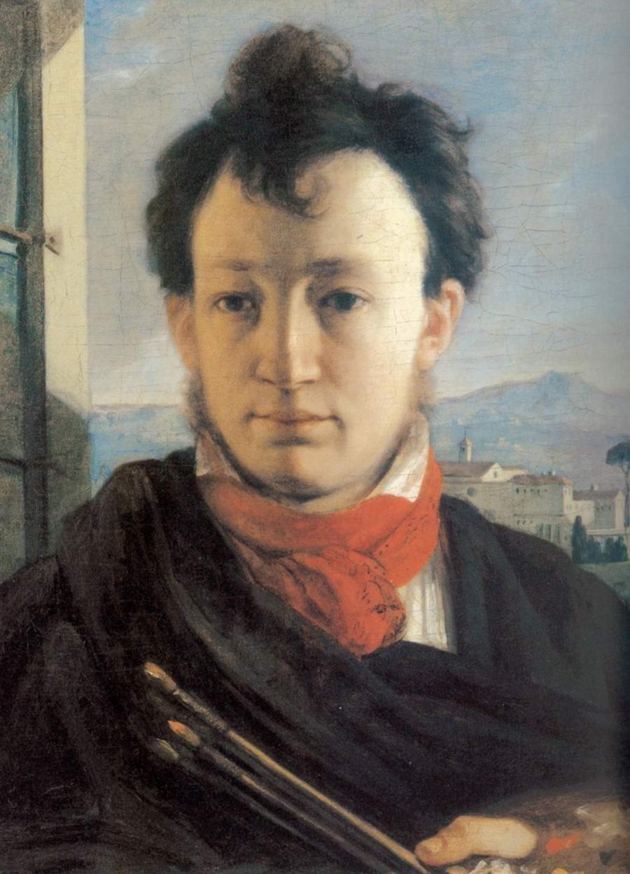 Автопортрет с палитрой и кистями в руке, Варнек Александр Григорьевич