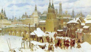 Всехсвятский каменный мост. Москва конца XVII века