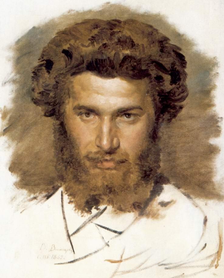 Портрет художника Архипа Ивановича Куинджи, Васнецов Виктор Михайлович