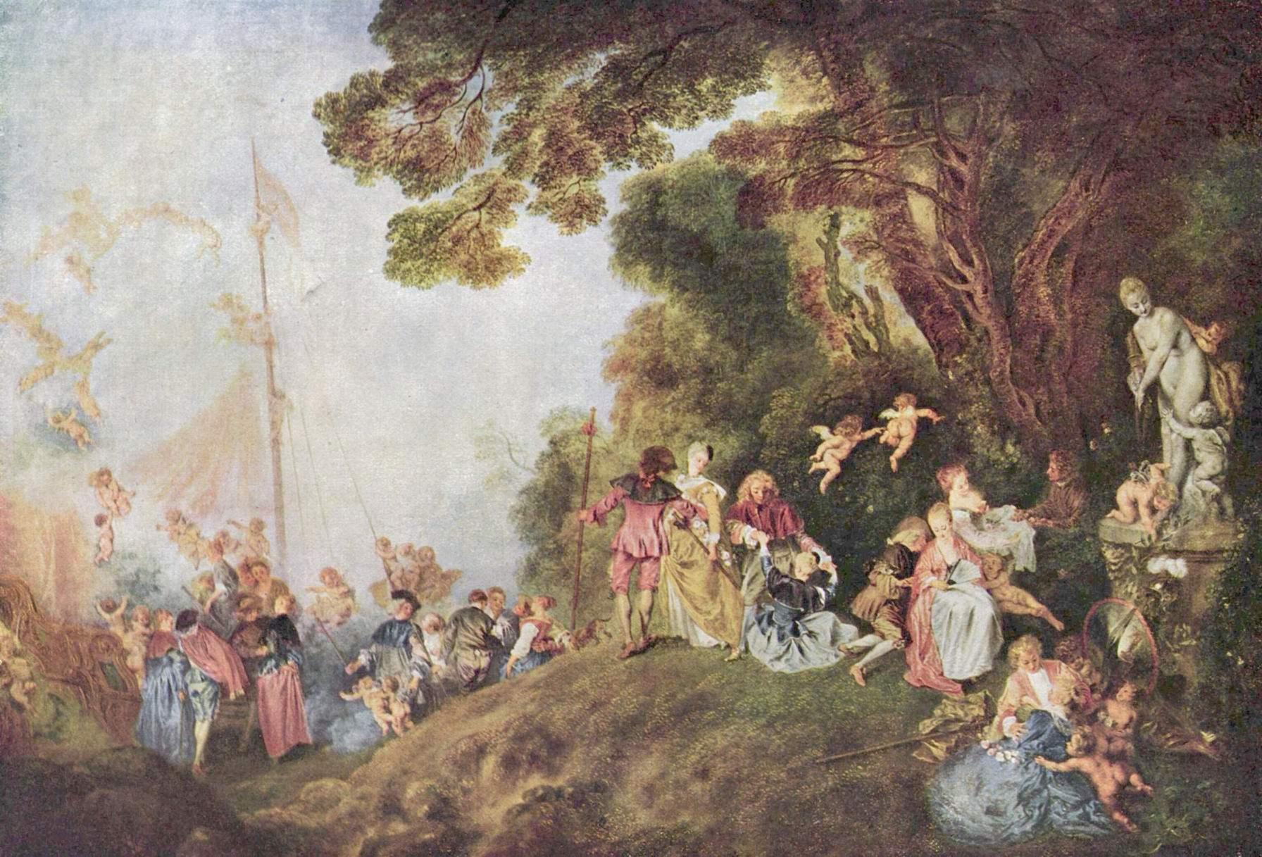 Паломничество на остров Киферу, Ватто Антуан